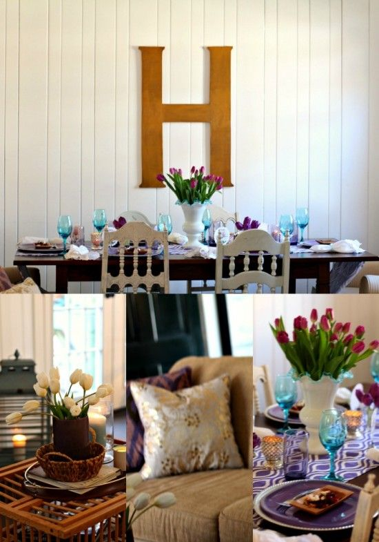 Purple & aqua color palette for a spring luncheon Mary Lillie Memory Club Luncheon – A Pretty Purple Celebration
