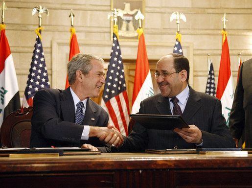 Sofa Agreement By Bush And Maliki HttpWwwCSpanOrgVideo