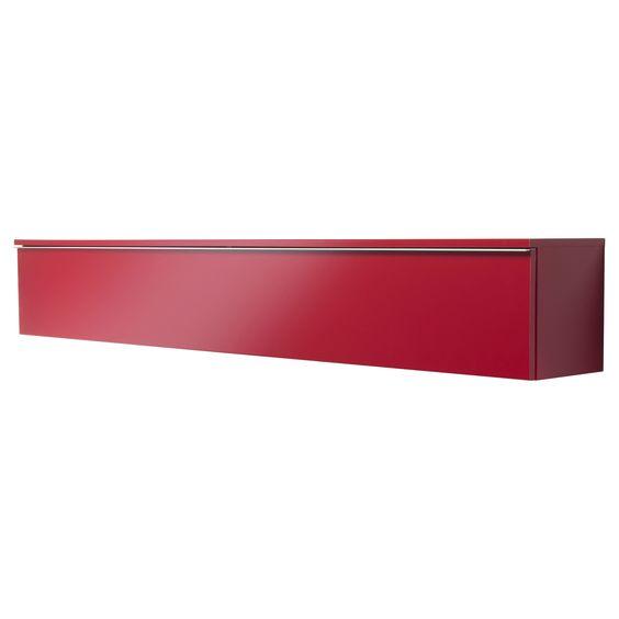 Besta Burs Wall Shelf Red : BEST? BURS Wall shelf  highgloss red  IKEA  furniture & homewares