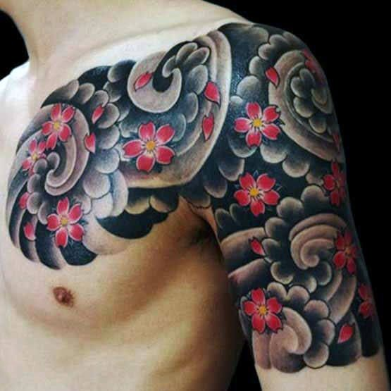 60 Japanese Half Sleeve Tattoos For Men Manly Design Ideas Japanese Tattoo Men Flower Tattoo Half Sleeve Tattoos For Guys