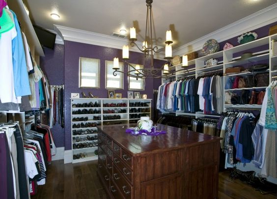 One Big Purple Closet Room If I Ever Own A House It