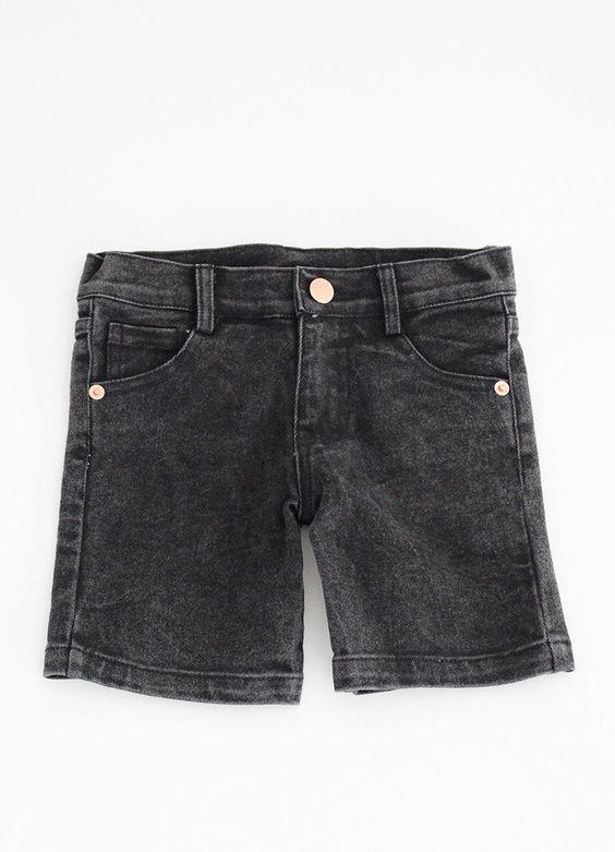 Boys Denim Shorts - Black Denim