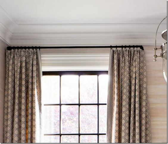 Curtains Ideas curtain rod close to wall : curtains against a wall | curtains | Pinterest | Curtain rods ...