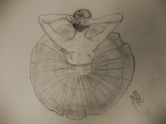 Dibujo de una bailarina