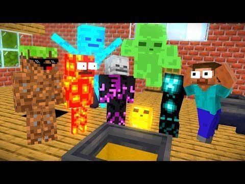 Monster School Brewing Wither Skeleton Challenge Minecraft Animation Youtube In 2021 Monster School Animation Monster