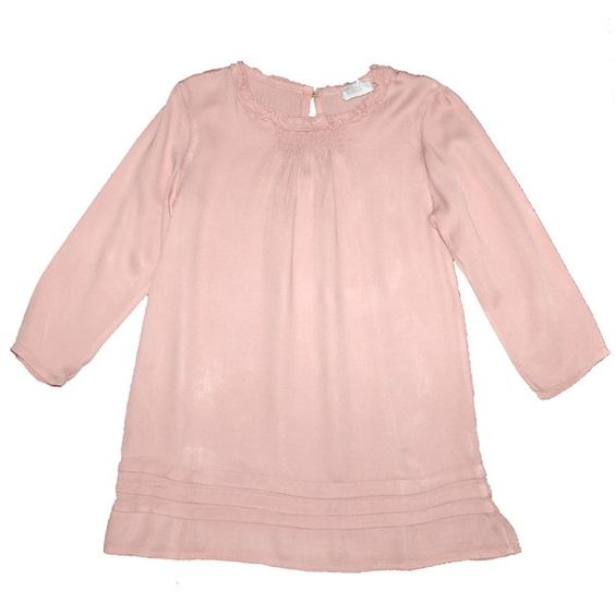 vestido violeta e federico con lorzas para niña www.yosolito.es