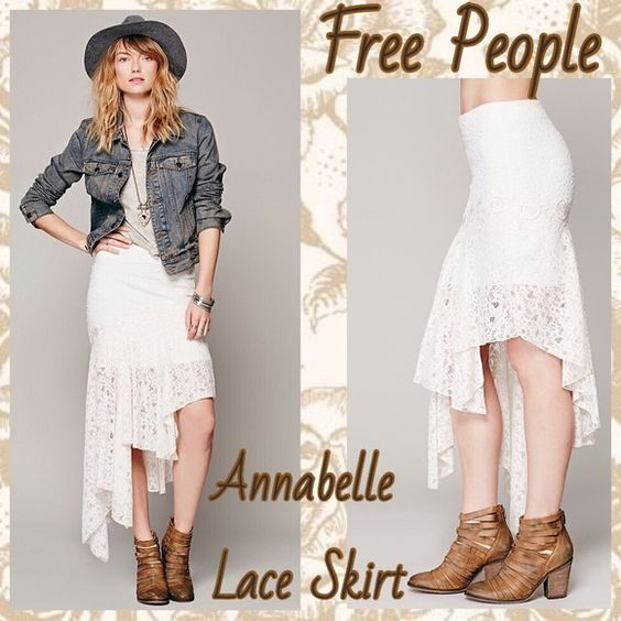 FREE PEOPLE - ANNABELLE LACE SKIRT Brand new without tags & never worn! Chic bohemian skirt, that hugs all the right curves and shows just enough leg. Lined under skirt with dainty floral and lace overlay and stretchy material. Size small. In my opinion can fit small & medium. Please make an offer! Free People Skirts