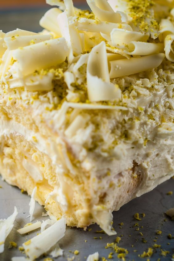 Chef Russell Brown's dreamy roulade recipe is both light and indulgent, thanks to the lemon curd and white chocolate mousse filling