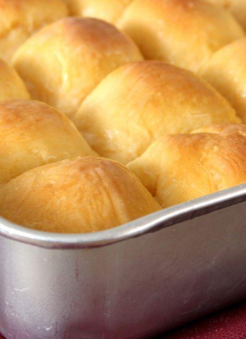 Sweet Potato Dinner Rolls with Honey Butter Glaze | Recipe | Dinner ...