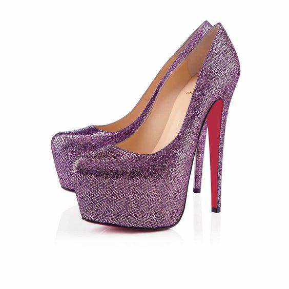 Christian Louboutin DAFFODILE 160 MM LADY GLITTER, Glitter, PIVOINE
