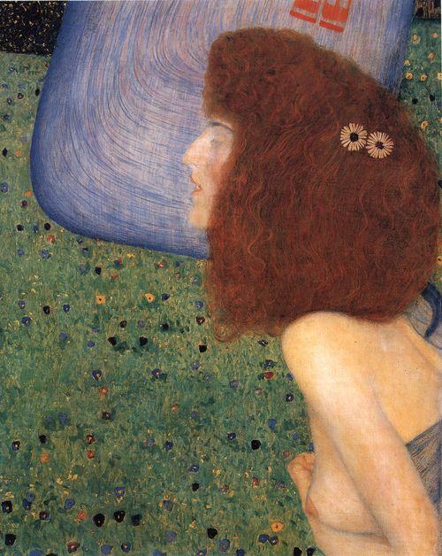 girl with blue veil, gustav klimt, 1902