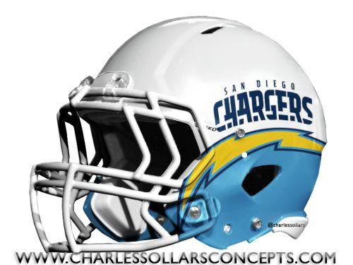 Chargers Powder Blue Helmet #NFL #Nike Charles Sollars Concepts ...