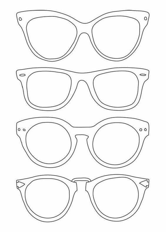 Glasses Coloring Page Kid Art Doodles Art For Kids