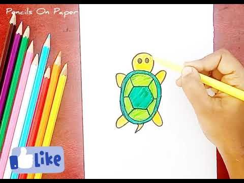 How To Draw Turtle Step By Step For Kids Simple Drawing Coloring Books Youtube In 2020 Turtle Drawing Easy Drawings Coloring Books