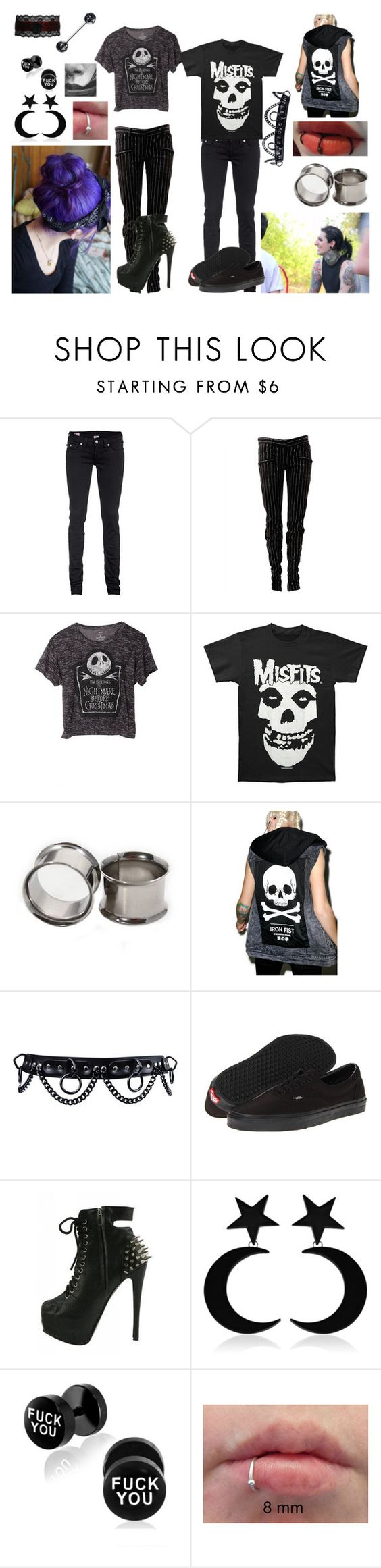 """motionless in white preferences"" by newmotionlessjinxxgamer ❤ liked on Polyvore featuring True Religion, Balmain, Iron Fist and Vans"