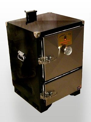 This chubby little charcoal smoker fits nicely in any backyard. Wherever award winning BBQ teams are competing, it's a good bet you'll find Backwoods Smokers.