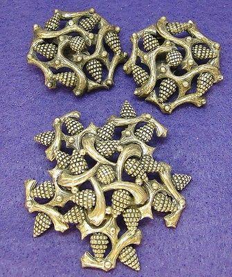 Vintage-ELSA-SCHIAPARELLI-Designer-PIN-Brooch-EARRING-SET-Pine-Cone