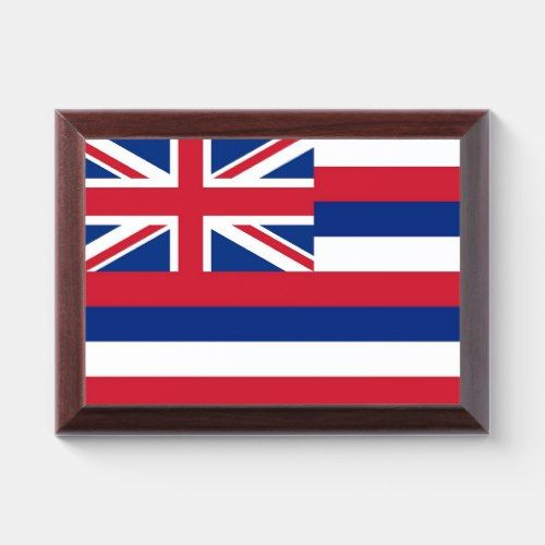 Patriotic Award Plaque With Flag Of Hawaii Zazzle Com Award Plaques Hawaii Flag Patriotic