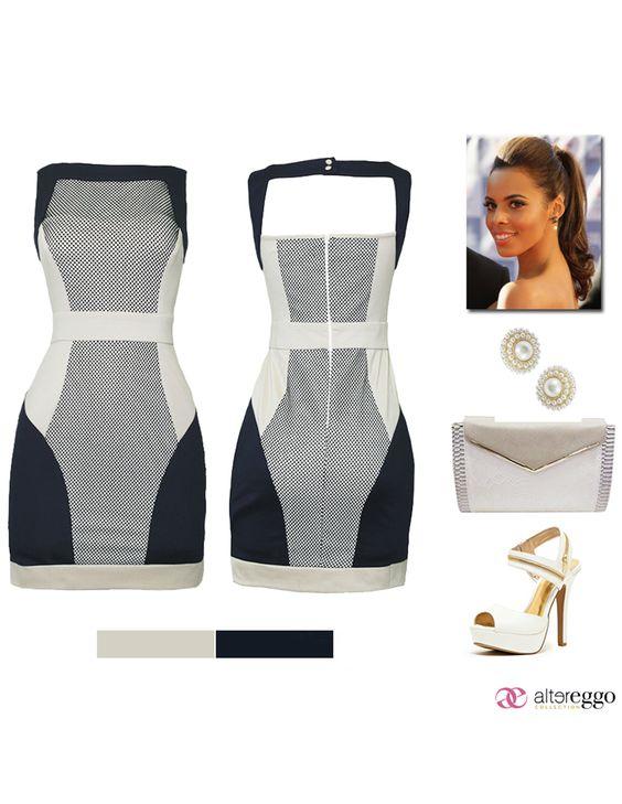 #Vestido #corto #zapatilla #blanco #azulMarino #entallado #mini #temporada #2014 #moda #fashion