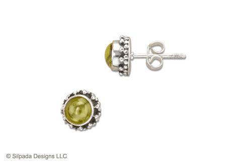 Silpada P1401 $29: Silver Post, Post Earrings, Peridot Beaded, Sterling Silver Earrings, Sells Silpada, Brilliant Peridot, Silpada Jewelry, Beaded Sterling