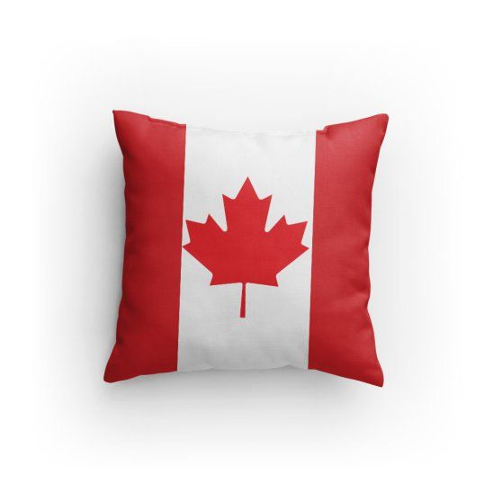 Candian Flag Pillow by KarrisCrafts on Etsy