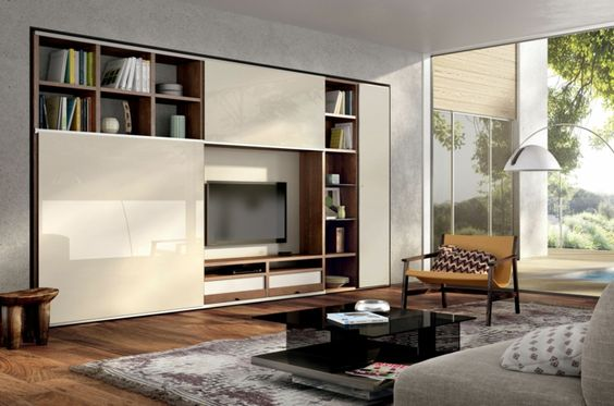 Wohnwand ikea  ikea wohnwand cremeweiß eingebaut huelsta.be | Modern living rooms ...