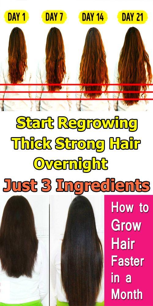 Krijg dik, sterk haar met slechts 3 ingrediënten