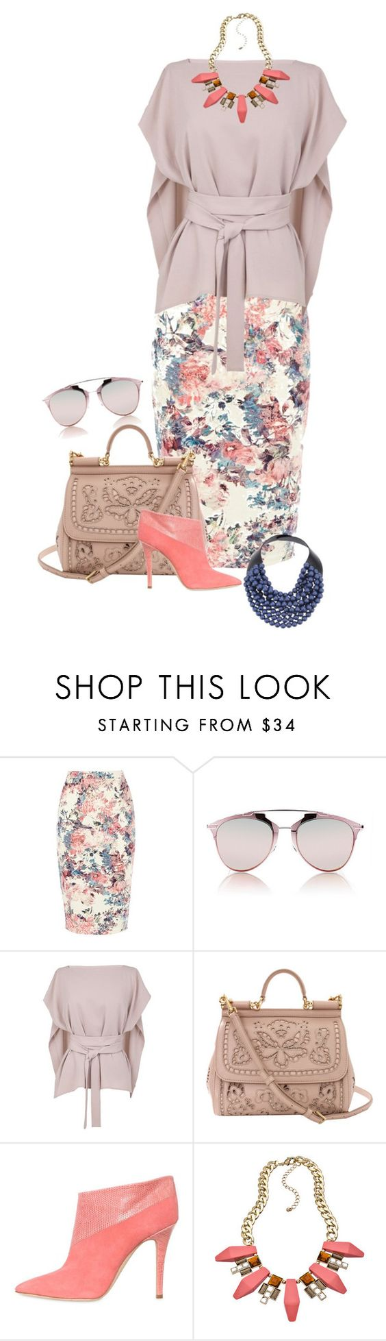 """""""It's Always Summer Somewhere"""" by clothes-wise ❤ liked on Polyvore featuring мода, Warehouse, Christian Dior, TIBI, Dolce&Gabbana, Malone Souliers, Blu Bijoux, Rossana Fani, pretty и polyvorecommunity"""
