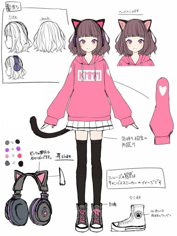 Fashion drawing girl anime - Arte no Papel Online
