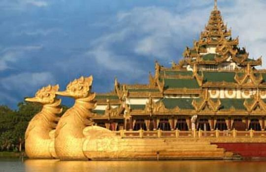 The Karaweik Hall Or Karaweik Palace Is Located In Yangon The Prow Of The Ship Is Built In The Shape Of A Karaweik A Bird From Yangon Landmarks Stock Images