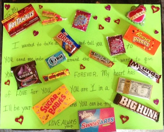 Valentines Day Candy Sayings valentines day candy bar poster i made ...