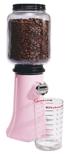 KitchenAid KCG200PK Classic-Series Model A-9 Burr Coffee Mill, Komen Pink