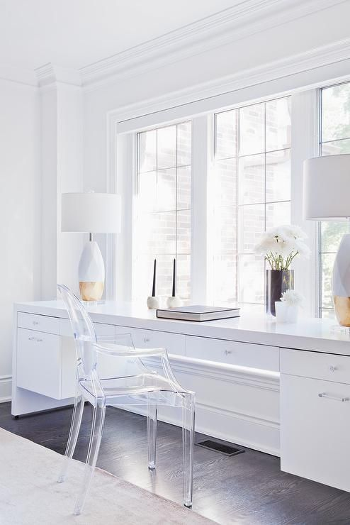 Bedroom Desk Drawers In 2020 White Lacquer Desk Modern Bedroom