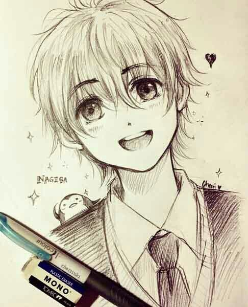 Pin By Han On Anime Anime Boy Sketch Anime Drawings Boy Anime Sketch