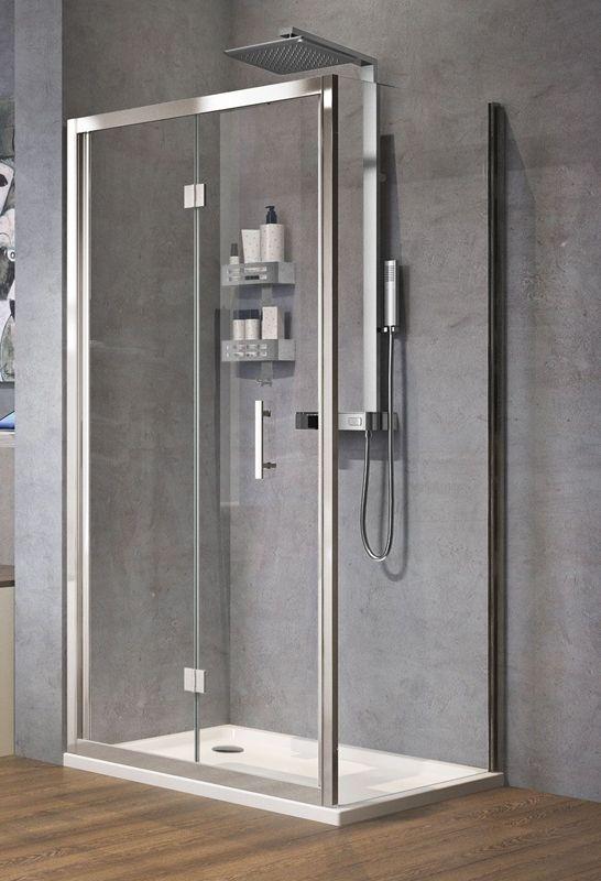 Novellini Zephyros S Bifold Shower Door 900 Black Finish Zephyrs86