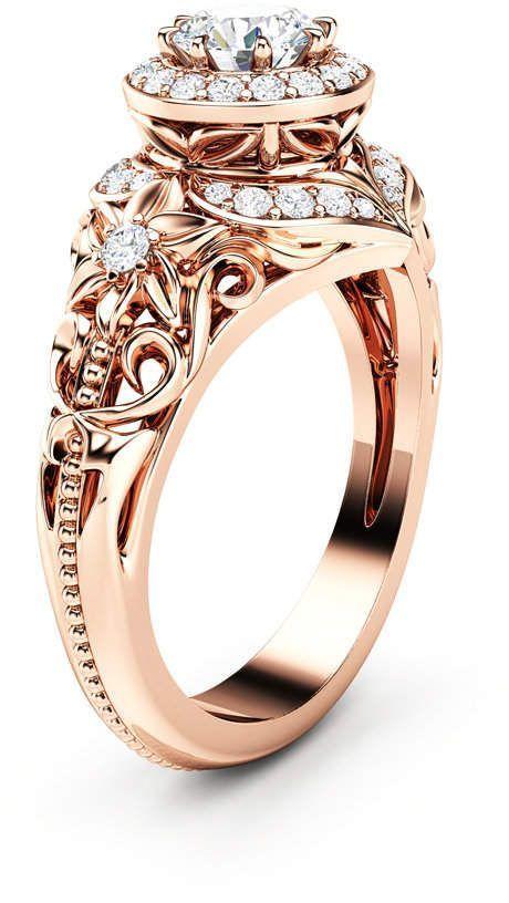 Pour alliances Pour mariage surprise Bo/îte de bagues de fian/çailles avec rose 3D Coffret cadeau