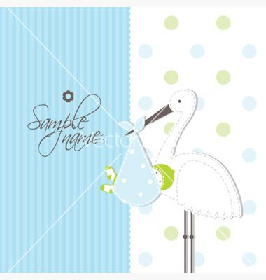 Baby Announcement Card Vector Image On