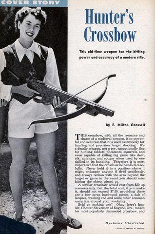 Build a Hunters Crossbow (Dec, 1953)