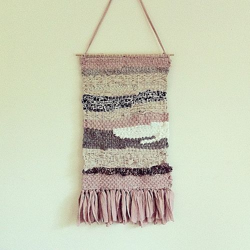 Weaving by Alchemy, made using textile industry offcuts and samples for a fashionista who has devoted her life to encouraging sustainable living.   A nice daily reminder that a love of fashion and a truly sustainable lifestyle can go hand in hand. by iamalchemy, via Flickr