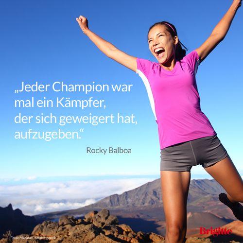Jeder Champion war mal ein Kämpfer, der sich geweigert hat, aufzugeben. Rocky Balboa #motivation
