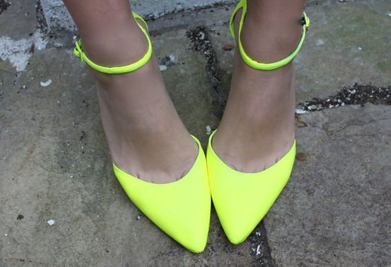 Spray paint neon shoes.  This might have to happen if I can't find suitably bright shoes for PR.