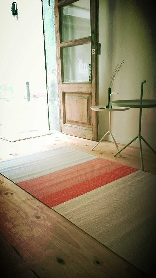 Paper Carpet and DLM table. Hay