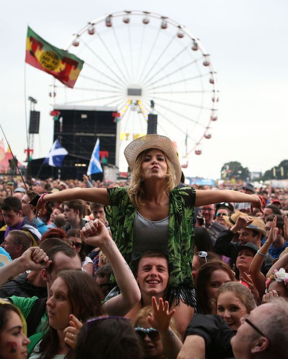 Music fans at the T in the Park festival, held at Balado Park in Kinross, Scotland. (Andrew Milligan/PA Wire)