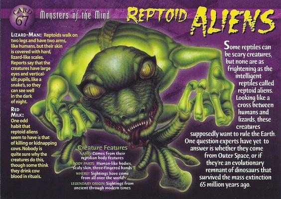 Card 67 - Reptoid Aliens