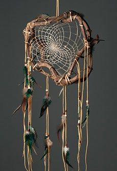 Dream catcher made from sticks intertwined crafts for Materials to make a dreamcatcher