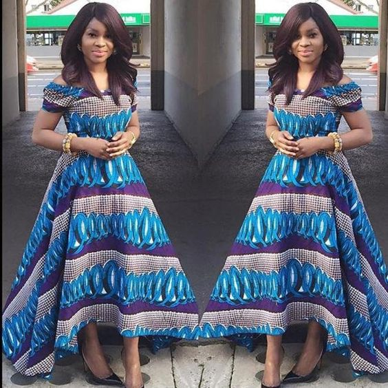 African Maxi Gown Dress ~African fashion, Ankara, kitenge, African women dresses, African prints, African men's fashion, Nigerian style, Ghanaian fashion ~DKK: