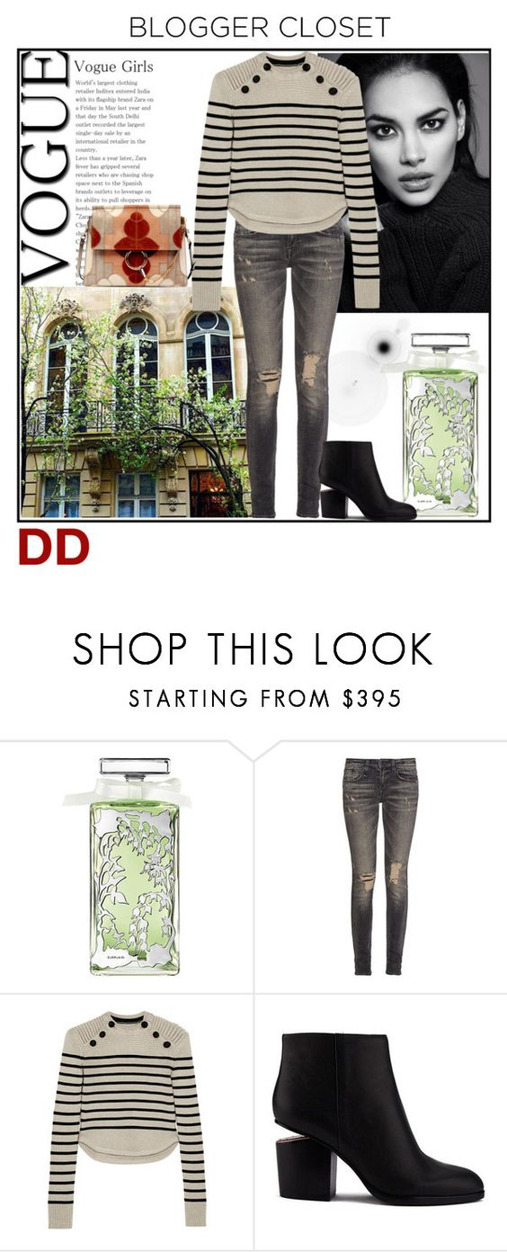 """Sunday in the Park"" by divadebbi ❤ liked on Polyvore featuring Guerlain, R13, Isabel Marant, Alexander Wang, Chloé, polyvoreblogger, patchworkbags and rippeddeniim"