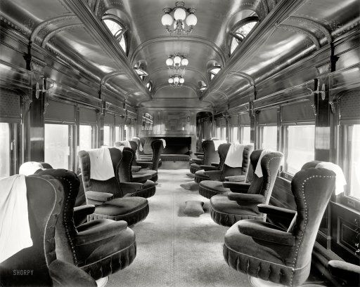 traveling in luxurious style in 1905