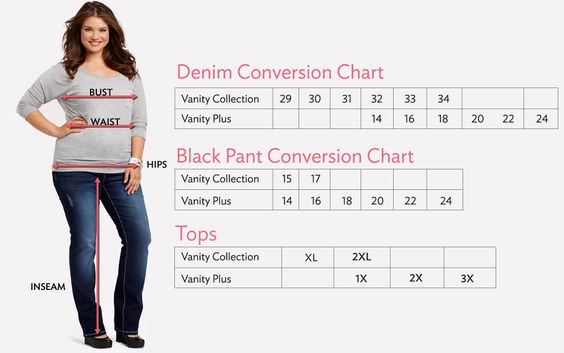 Size Guide At Just Jeans we believe the perfect fit can be found for anyone & everyone. So we've made sure that shopping online can be made easy with our size guides below!