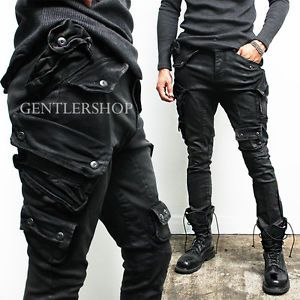 details about mens fashion semi baggy multi cargo wax. Black Bedroom Furniture Sets. Home Design Ideas